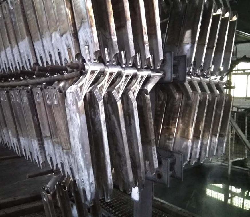 铝合金电动车架热处理